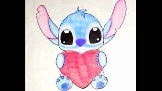 getlinkyoutube.com-dibujar un stitch FACIL Y RAPIDO (TIERNO STITCHS)