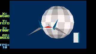 getlinkyoutube.com-Starfox 3d tech demo Sega Genesis: version2 using DMA