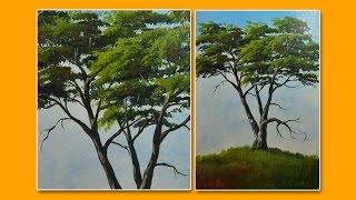 getlinkyoutube.com-Learn How to Paint a Tree-Acrylic Painting Lesson by JMLisondra