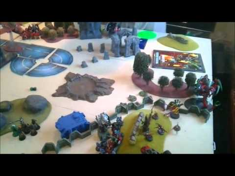Warhammer 40K Battle Report - Giant 6000pt game - Imperium/Eldar VS Necron/Ork/Tyranids