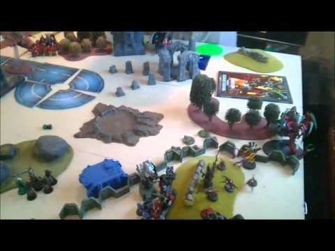 Warhammer 40K Battle Report - Giant 6000pt game - Imperium/Eldar VS Necron/Ork/Tyranids
