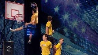 getlinkyoutube.com-Face Team basketball acrobatics - Britain's Got Talent 2012 audition - International version