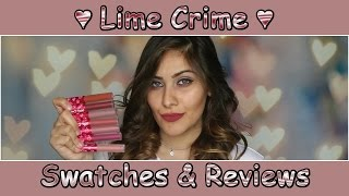 getlinkyoutube.com-Lime Crime Velvetines | Swatches & Reviews | Layla Knight LK