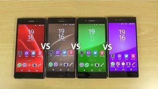 getlinkyoutube.com-Sony Xperia Z5 VS Z3+ VS Z3 VS Z2 - Speed test