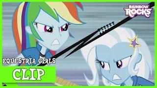 """getlinkyoutube.com-MLP: Equestria Girls - Rainbow Rocks """"Duelo de Guitarras"""" [Español Latino]"""