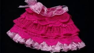 خطوة بخطوة لعمل تنورة بالكروشيه how to crochet the cutest ruffle skirt