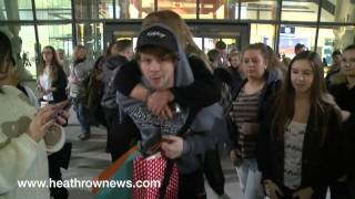 The Wanted mingle with fans at airport