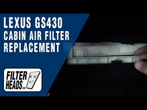 How to Replace Cabin Air Filter 2006 Lexus GS430
