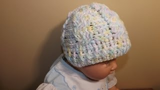 getlinkyoutube.com-Crochet Gorro De Trenzas Para Bebe'