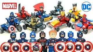 getlinkyoutube.com-Superman Captain America Batman Iron Man Spider-Man Motorcycles & Go-Karts Unofficial LEGO Sets