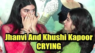 Jhanvi Kapoor And Khushi Kapoor Crying At Dhadak Trailer Launch