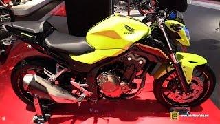 getlinkyoutube.com-2016 Honda CB500F - Walkaround - 2015 EICMA Milan