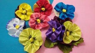 getlinkyoutube.com-D.I.Y. Satin Pansy Flower Tutorial | MyInDulzens