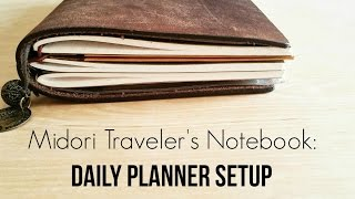 getlinkyoutube.com-Using the Midori Traveler's Notebook as a Daily Planner