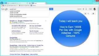 getlinkyoutube.com-How to Earn 1000$ Per Day with Google Adsense 100% Genuine