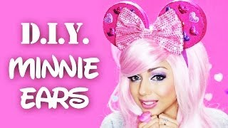 getlinkyoutube.com-DIY Minnie Ears! | Charisma Star