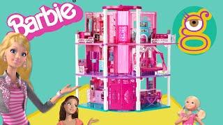 getlinkyoutube.com-Casa tres pisos Barbie Dreamhouse mansion Casa muñecas dollhouse juguetes Barbie toys