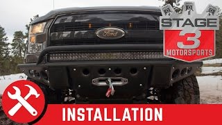 getlinkyoutube.com-2015-2016 F-150 ADD Stealth R Paneled Winch Plate Front Off Road Bumper Install