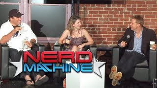 getlinkyoutube.com-Conversation with Adam Baldwin, Alan Tudyk, and Jewel Staite - Nerd HQ (2011) HD - Zachary Levi