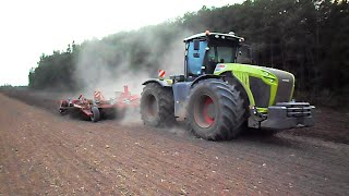 getlinkyoutube.com-Claas Xerion 5000 powerful machine + Horsch Tiger 8 AS cultivating