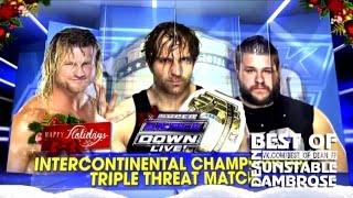 getlinkyoutube.com-Highlights Dean Ambrose Vs Kevin Owens Vs Dolp Ziggler (Intercontinental champiomship) 12.12.15