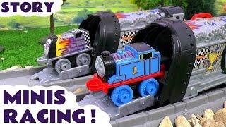 getlinkyoutube.com-Thomas & Friends Minis Toy Trains Great Race Episode Story using Launchers - Fun family toys TT4U