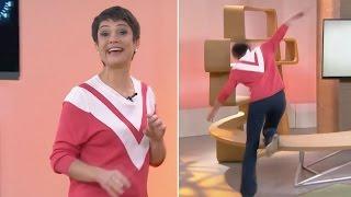 getlinkyoutube.com-Sandra Annenberg cai durante o programa e TV Globo sai do ar