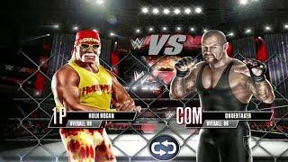 getlinkyoutube.com-WWE 2K Mobile - Hulk Hogan vs The Undertaker - Steel Cage Match Gameplay [ HD ]