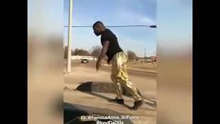 Famous Amos dances on moving flatbed #iBetYouWontChallenge