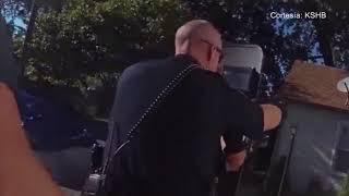 Una cámara de la policía captó los últimos segundos de la vida de una mujer.