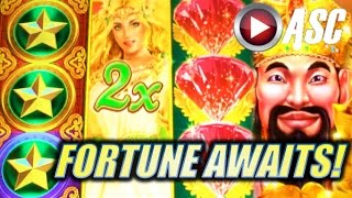 getlinkyoutube.com-*FORTUNE AWAITS MEDLEY MIX!* FORTUNE STACKS BONUS RUN (Konami) Slot Machine Bonus Wins