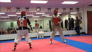 getlinkyoutube.com-HMA & OTM May 2015 Olympic Taekwondo Sparring Practice