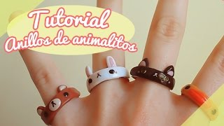 getlinkyoutube.com-【TUTORIAL】Cómo hacer anillos de animalitos! ❤ (DIY / How to make a cute animal rings ❤)