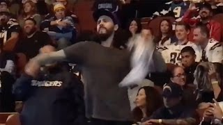 Angry Chargers Fan THROWS Shirt at Owner Dean Spanos at Team Rally, Gets Kicked Out