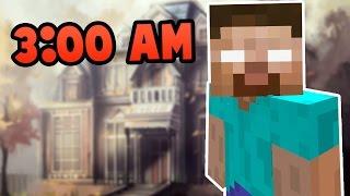 getlinkyoutube.com-Do NOT Play Minecraft Pocket Edition in Herobrine's Mansion at 3:00 AM!!!