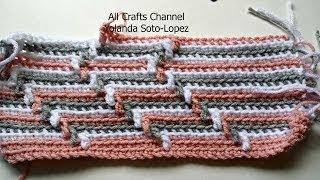getlinkyoutube.com-How to crochet Apache Tears pattern  for blanket (English )
