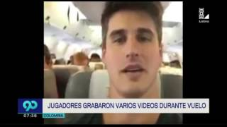 Chapecoense: imágenes inéditas de los jugadores en el avión antes de la tragedia