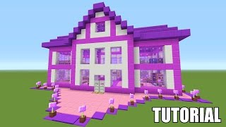 getlinkyoutube.com-Minecraft Tutorial: How To Make A Barbie Dream House!! Survival House (ASH#39)
