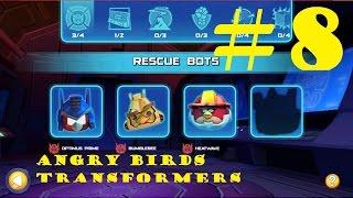 getlinkyoutube.com-Angry Birds Transformers #8 - HEATWAVE, BUMBLEBEE and SOUNDWAVE