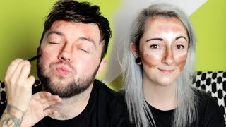 getlinkyoutube.com-IDIOTS TRY TO CONTOUR (Extreme Contouring Challenge!)