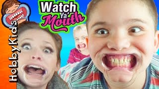 WATCH Ya' MOUTH! Hilarious Mouth Guard Party Game HobbyKidsTV
