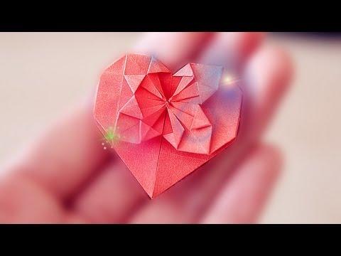 Heart Tutorial : ひなまつり 折り紙 : 折り紙