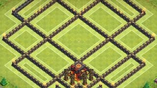 getlinkyoutube.com-Clash Of Clans - TH 10 Hybrid Dark Elixir Base - 275 Walls
