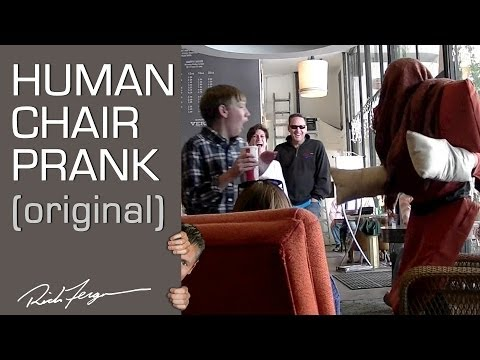 Human Chair Scare Prank (Video)