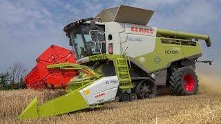 getlinkyoutube.com-GoPro Grain harvest: CLAAS Lexion 770 TT + CLAAS Flex 7,50 meters