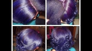 getlinkyoutube.com-Coloring Natural Hair Purple (double process)