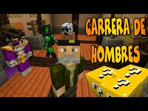 CARRERA DE HOMBRES!! c/ Vegetta, Alex y sTaXx | Lucky Blocks Epic Race