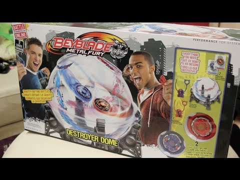 DESTROYER DOME Beyblade Metal Fury 4D Hasbro UNBOXING & REVIEW!! - Spiral Fox & Cyclone Hercleo