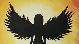 getlinkyoutube.com-Acrylic Painting - Angel Silhouette