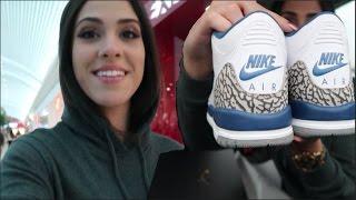 getlinkyoutube.com-BLACK FRIDAY MALL VLOG | Sneaker Shopping for True Blue 3's